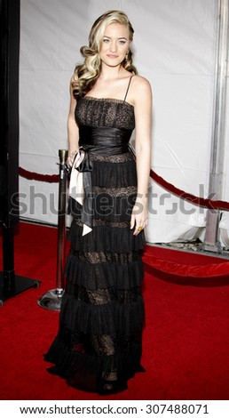 HOLLYWOOD, CA - DECEMBER 07, 2009: Amanda AJ Michalka at the Los Angeles premiere of 'The Lovely Bones' held at the Grauman's Chinese Theater in Hollywood, USA on December 7, 2009. - stock photo