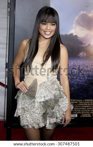 HOLLYWOOD, CA - DECEMBER 07, 2009: Nikki Soohoo at the Los Angeles premiere of 'The Lovely Bones' held at the Grauman's Chinese Theater in Hollywood, USA on December 7, 2009. - stock photo