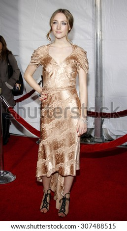HOLLYWOOD, CA - DECEMBER 07, 2009: Saoirse Ronan at the Los Angeles premiere of 'The Lovely Bones' held at the Grauman's Chinese Theater in Hollywood, USA on December 7, 2009. - stock photo