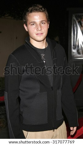 HOLLYWOOD, CA - DECEMBER 01, 2005: Shawn Pyfrom at the World premiere of 'Aeon Flux' at the Cinerama Dome in Hollywood, USA on December 1, 2005.