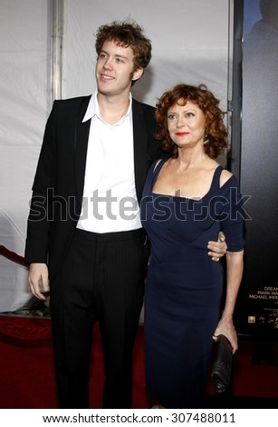 HOLLYWOOD, CA - DECEMBER 07, 2009: Susan Sarandon and Jack Robbins at the Los Angeles premiere of 'The Lovely Bones' held at the Grauman's Chinese Theater in Hollywood, USA on December 7, 2009. - stock photo