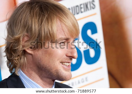 "HOLLYWOOD, CA. - FEB 23: Owen Wilson arrives at the world premiere of ""Hall Pass"" on Feb 23, 2011 at the Cinerama Dome in Hollywood, CA."