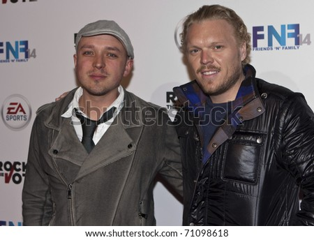 HOLLYWOOD, CA - FEBRUARY 11: Musician ND ROCK arrives at the 14th annual 'Friends 'N' Family' GRAMMY event at Paramount Studios on February 11, 2011 in Hollywood, California - stock photo