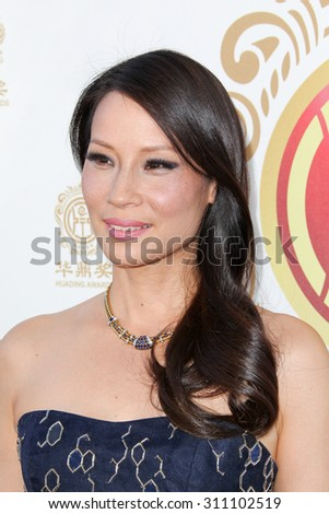 HOLLYWOOD, CA-JUN 1: Actress Lucy Liu attends the 2014 Huading Film Awards at The Montalban on June 1, 2014 in Hollywood, California. - stock photo