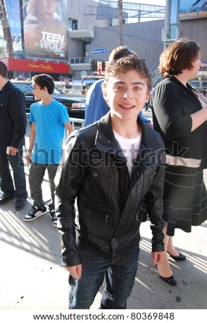 "HOLLYWOOD, CA- JUNE 18: Actor Ryan Ochoa attends the Disney's Pixar ""Cars 2"" premiere, held at El Capitan Theatre, June 18, 2011 in Hollywood,CA. - stock photo"