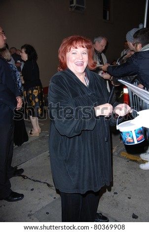 "HOLLYWOOD, CA- JUNE 18: Actress Edie McClurg attends the Disney's Pixar ""Cars 2"" premiere, held at El Capitan Theatre, June 18, 2011 in Hollywood,CA. - stock photo"