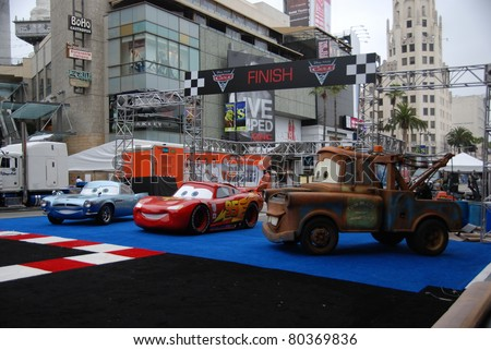 "HOLLYWOOD, CA- JUNE 18: General view of Disney's Pixar ""Cars 2"" premiere, held at El Capitan Theatre, June 18, 2011 in Hollywood,CA. - stock photo"