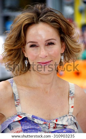 HOLLYWOOD, CA - JUNE 12, 2011: Jennifer Grey at the Los Angeles premiere of 'Mr. Popper's Penguins' held at the Grauman's Chinese Theatre in Hollywood, USA on June 12, 2011.