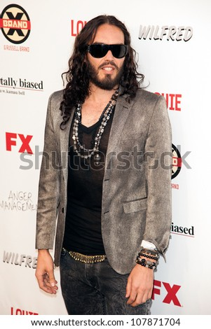 HOLLYWOOD, CA - JUNE 26: Russell Brand arrives at FX Summer Comedies party at Lure on June 26, 2012 in Hollywood, California.