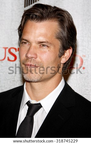 HOLLYWOOD, CA - MARCH 08, 2010: Timothy Olyphant at the premiere screening of FX's 'Justified' held at the DGA Theater in Hollywood, USA on March 8, 2010.