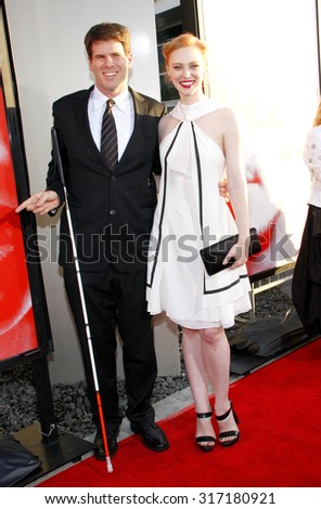 HOLLYWOOD, CA - MAY 30, 2012: Deborah Ann Woll and E.J. Scott at the HBO's 'True Blood' season 5 premiere held at the ArcLight Cinemas in Hollywood, USA on May 30, 2012.