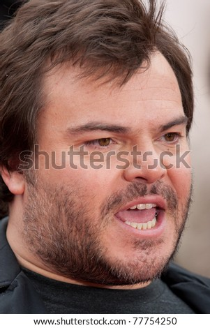 HOLLYWOOD, CA. - MAY 22: Jack Black arrives at the Los Angeles premiere of Kung Fu Panda 2 at Grauman's Chinese  Theatre on May 22, 2011 in Hollywood, California.