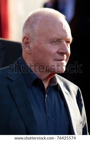 HOLLYWOOD, CA. - MAY 2: Sir Anthony Hopkins arrives at the Los Angeles premiere of Thor at the El Capitan Theatre on May 2, 2011 in Hollywood, California.