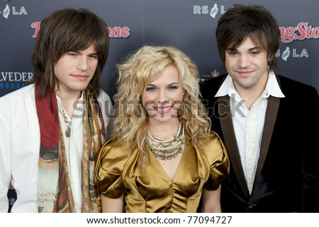 HOLLYWOOD, CA. - NOV 21: The Band Perry arrives at the 2010 American Music Awards Rolling Stone Magazine VIP After Party at Rolling Stone Restaurant & Lounge on November 21, 2010 in Hollywood, Ca.