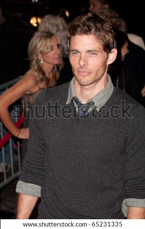 HOLLYWOOD, CA - NOVEMBER 15: Actor James Marsden arrives to the premiere of the movie Burlesque at the Grauman's Chinese Theater, on November 15, 2010 in Los Angeles, CA