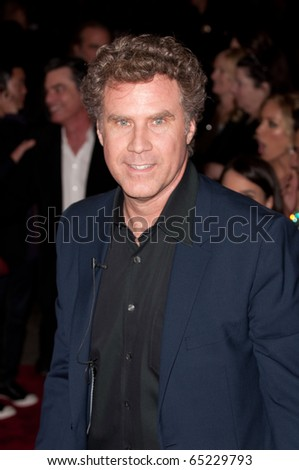 HOLLYWOOD, CA - NOVEMBER 15: Actor Will Ferrell ariving to the premiere of the movie Burlesque at the Grauman's Chinese Theater, on November 15, 2010 in Los Angeles, CA - stock photo