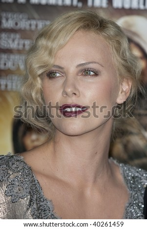 HOLLYWOOD, CA. - NOVEMBER 4: Charlize Theron attends the AFI Fest screening of The Road at The Grauman's Chinese Theater on November 4, 2009 in Hollywood. - stock photo