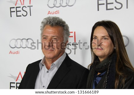 HOLLYWOOD, CA �� NOVEMBER 4, 2012: Dustin Hoffman and wife attending the AFI premiere of his directorial debut, Quartet��, at Egyptian Theater on November 4, 2012 in Hollywood, Ca.