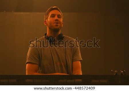 HOLLYWOOD, CA-OCT 24: DJ Calvin Harris performs onstage during CBS RADIOs third annual We Can Survive, presented by Chrysler, at the Hollywood Bowl on October 24, 2015 in Hollywood, California.