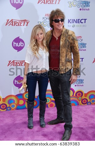 HOLLYWOOD, CA - OCTOBER 24:(L-R) Model Ava Sambora and dad musician Richie Sambora arrive at Variety's 4th Annual Power Of Youth Event at Paramount Studios on October 24, 2010 in Hollywood, California