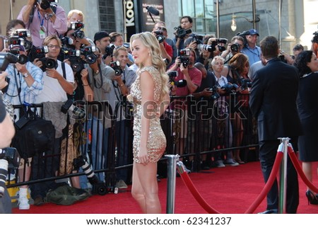 HOLLYWOOD, CA- SEPTEMBER 30: Actress Amanda Michalka arrives on the red carpet for the premiere of Disney Pictures film the 'Secretariat', at The El Capitan Theater in Hollywood on September 30, 2010. - stock photo