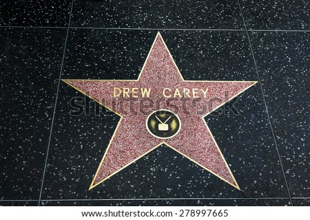 HOLLYWOOD, CA/USA - APRIL 18, 2015: Drew Cary star on the Hollywood walk of fame. - stock photo