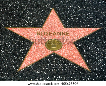 HOLLYWOOD, CA/USA - JULY 9, 2016: Roseanne Barr  star on the Hollywood walk of fame.