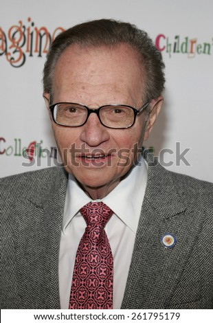 """HOLLYWOOD, CALIFORNIA. April 22, 2006. Larry King attends the opening of """"The Children's Collection"""" held at the Junior Arts Center Gallery at Barnsdall Park in Hollywood, California United States. - stock photo"""