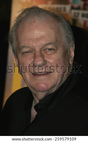 """HOLLYWOOD, CALIFORNIA. August 23, 2005. Charles Durning at the World Premiere of """"Dirty Deeds"""" at the Directors Guild of America in Hollywood, California , United States. - stock photo"""