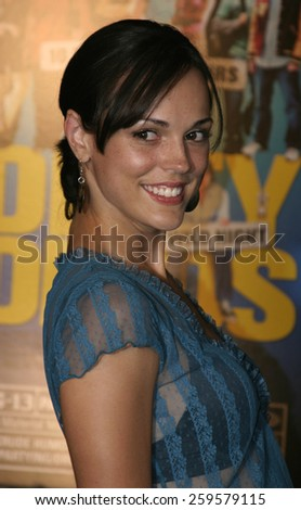 """HOLLYWOOD, CALIFORNIA. August 23, 2005. Erin Cahill at the World Premiere of """"Dirty Deeds"""" at the Directors Guild of America in Hollywood, California , United States. - stock photo"""