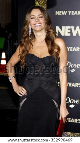 "HOLLYWOOD, CALIFORNIA - December 5, 2011. Sofia Vergara at the Los Angeles premiere of ""New Year's Eve"" held at the Grauman's Chinese Theater, Los Angeles.  - stock photo"