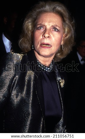 Hollywood, California - exact date unknown - circa 1990 - Lauren Bacall arriving for a Hollywood event