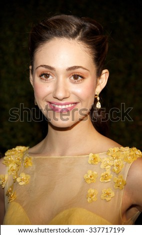 HOLLYWOOD, CALIFORNIA - February 22, 2012. Emmy Rossum at the Global Green USA's 9th Annual Pre-Oscar Party held at the Avalon Hollywood, Los Angeles.