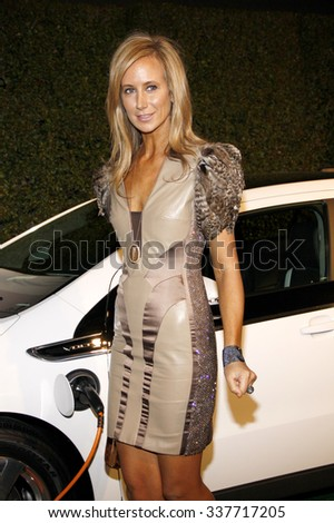 HOLLYWOOD, CALIFORNIA - February 22, 2012. Lady Victoria Hervey at the Global Green USA's 9th Annual Pre-Oscar Party held at the Avalon Hollywood, Los Angeles. - stock photo