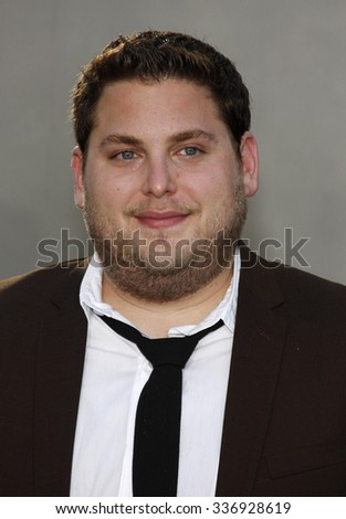 "HOLLYWOOD, CALIFORNIA - July 20, 2009. Jonah Hill at the World Premiere of ""Funny People"" held at the ArcLight Theater, Hollywood.   - stock photo"