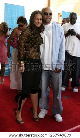 HOLLYWOOD, CALIFORNIA. June 28, 2005. Alicia Keys at the 2005 BET Awards at the Kodak Theater in Hollywood. - stock photo