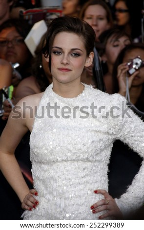 "HOLLYWOOD, CALIFORNIA - June 24, 2010. Kristen Stewart at the ""The Twilight Saga: Eclipse"" Los Angeles premiere held at the Nokia Live Theater, Los Angeles.  - stock photo"