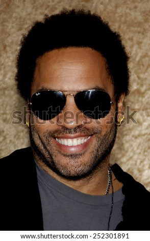 """HOLLYWOOD, CALIFORNIA - June 16, 2010. Lenny Kravitz at the Season 7 premiere of """"Entourage"""" held at the Paramount Pictures Studios, Hollywood.  - stock photo"""