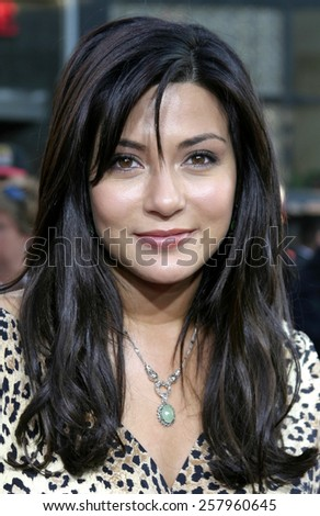 "HOLLYWOOD, CALIFORNIA - June 27 2005. Marisol Nichols attends at the ""War of the Worlds"" Fan Screening at the Chinese Theater in Hollywood, California."