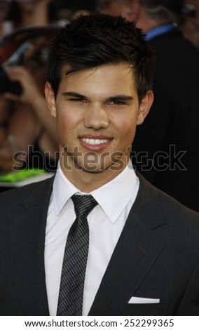 "HOLLYWOOD, CALIFORNIA - June 24, 2010. Taylor Lautner at the ""The Twilight Saga: Eclipse"" Los Angeles premiere held at the Nokia Live Theater, Los Angeles. - stock photo"