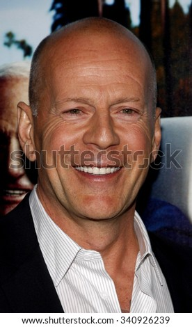 """HOLLYWOOD, CALIFORNIA - March 22, 2011. Bruce Willis at the Los Angeles premiere of """"His Way"""" held at the Paramount Studios, Los Angeles.  - stock photo"""
