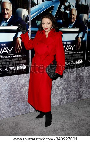 """HOLLYWOOD, CALIFORNIA - March 22, 2011. Joan Collins at the Los Angeles premiere of """"His Way"""" held at the Paramount Studios, Los Angeles.  - stock photo"""