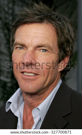 "HOLLYWOOD, CALIFORNIA. November 20, 2005. Dennis Quaid at the ""Yours, Mine, and Ours"" Los Angeles Premiere at the Cinerama Dome in Hollywood, California United States."