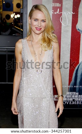 "HOLLYWOOD, CALIFORNIA - November 3, 2011. Naomi Watts at the AFI Fest 2011 Opening Night Gala World Premiere Of ""J. Edgar"" held at Grauman's Chinese Theater, Los Angeles. - stock photo"