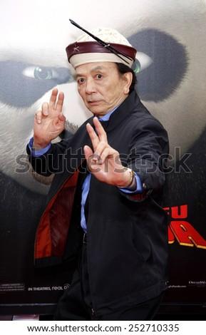 "HOLLYWOOD, CALIFORNIA - Sunday May 22, 2011. James Hong at the Los Angeles premiere of ""Kung Fu Panda 2"" held at the Grauman's Chinese Theater, Los Angeles.  - stock photo"
