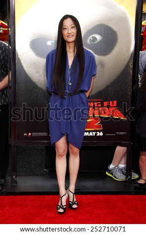 "HOLLYWOOD, CALIFORNIA - Sunday May 22, 2011. Jennifer Yuh Nelson at the Los Angeles premiere of ""Kung Fu Panda 2"" held at the Grauman's Chinese Theater, Los Angeles.  - stock photo"