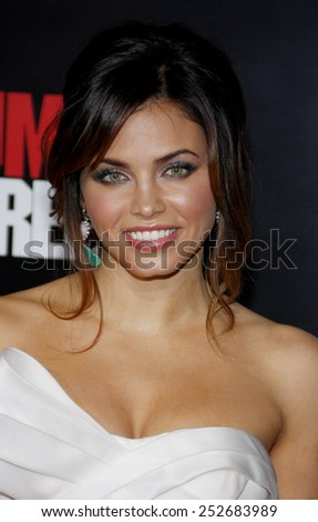 "HOLLYWOOD, CALIFORNIA - Tuesday March 13, 2012. Jenna Dewan at the Los Angeles premiere of ""21 Jump Street"" held at the Grauman's Chinese Theater, Los Angeles.  - stock photo"