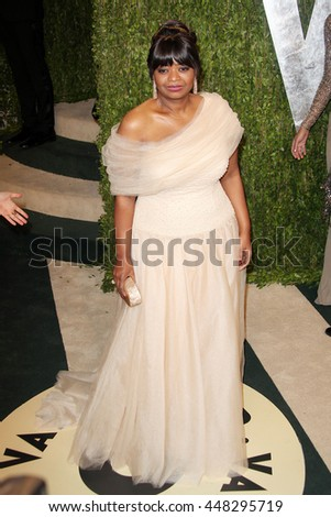 Hollywood, California, USA; February 25, 2013; Octavia Spencer attends the 2013 Vanity Fair Oscar Party at the Sunset Towers in Hollywood, California.