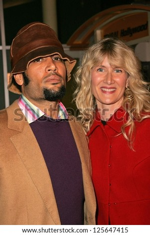 "HOLLYWOOD - DECEMBER 13: Ben Harper and Laura Dern at the Los Angeles Premiere of ""The Painted Veil"" on December 13, 2006 at Arclight Cinemas in Hollywood, CA."