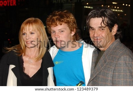 "HOLLYWOOD - DECEMBER 06: Marg Helgenberger and Alan Rosenberg with son Hugh at the premiere of ""Blood Diamond"" Grauman's Chinese Theatre December 06, 2006 Hollywood, CA."